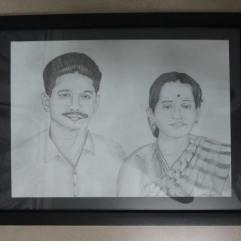 Portrait of my husband's Maternal Grandparents