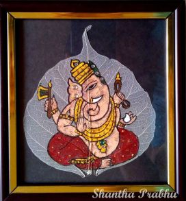LEAF PAINTING: Ganesha