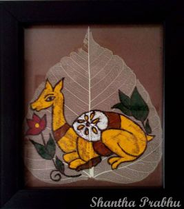 LEAF PAINTING: Deer