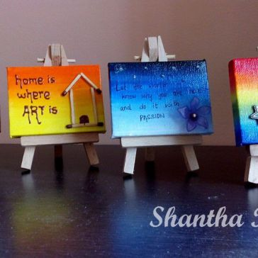 Acrylic Painting: Miniature canvases