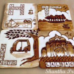 COFFEE PAINTING: Memories of Bangalore coasters
