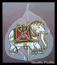 LEAF PAINTING: Elephant