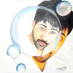 Bubble: Colour pencil Portait