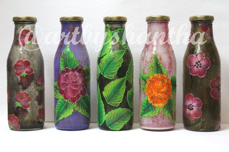 Bottle Painting Techniques Shantha Prabhu Artist